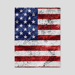 Grunge American Flag Twin Duvet
