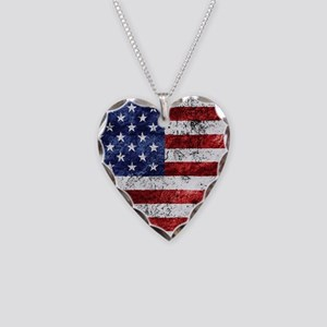Grunge American Flag Necklace