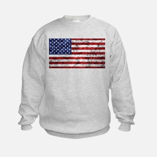 Grunge American Flag Sweatshirt