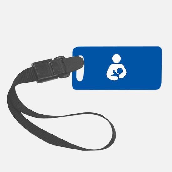 breastfeeding icon rectangle Luggage Tag
