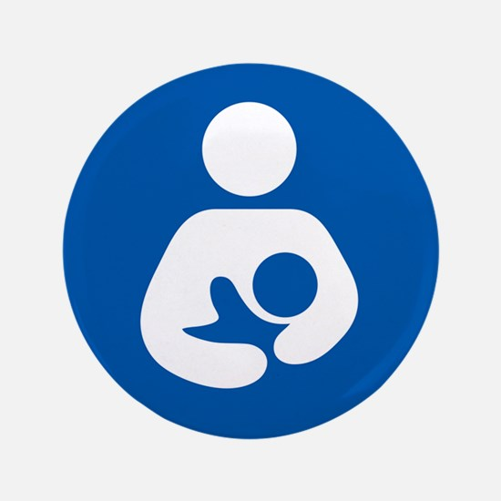 """breastfeeding icon rectangl 3.5"""" Button (100 pack)"""