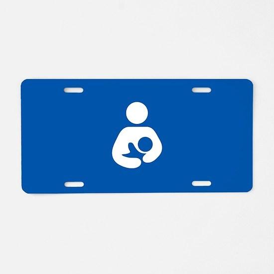 breastfeeding icon rectangl Aluminum License Plate