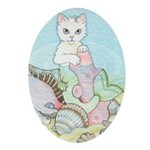 Basking Mercat Oval Ornament