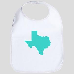 Turquoise Texas Outline Bib