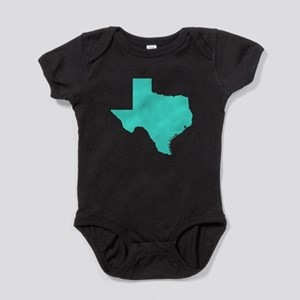 Turquoise Texas Outline Baby Bodysuit