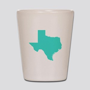 Turquoise Texas Outline Shot Glass