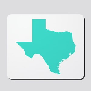 Turquoise Texas Outline Mousepad