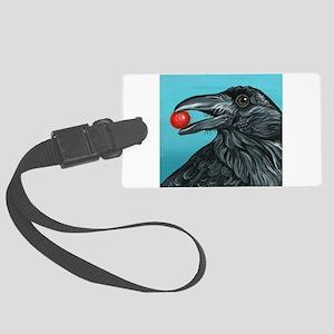 Black Raven Crow Large Luggage Tag