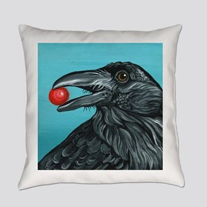 Black Raven Crow Everyday Pillow