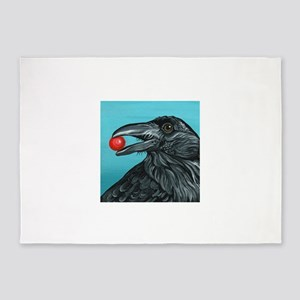 Black Raven Crow 5'x7'Area Rug