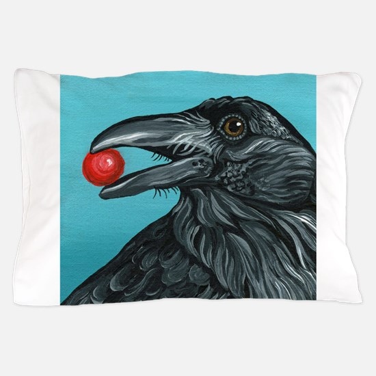 Black Raven Crow Pillow Case