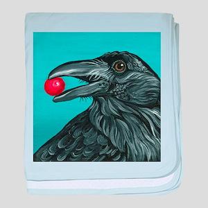 Black Raven Crow baby blanket