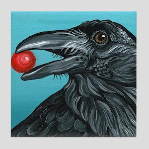 Black Raven Crow Tile Coaster
