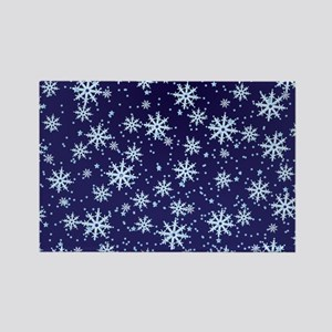 Midnight Snowflakes Magnets
