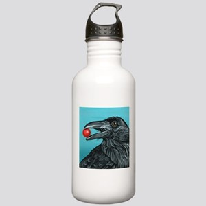 Black Raven Crow Water Bottle