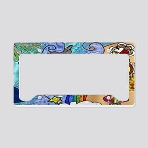 Psychedelic Beach License Plate Holder