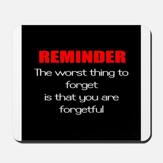 forgetful Mousepad