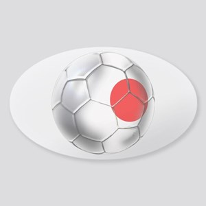 Japanese Soccer Sticker (Oval)
