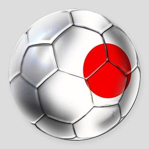 Japanese Soccer Round Car Magnet
