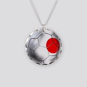 Japanese Soccer Necklace Circle Charm