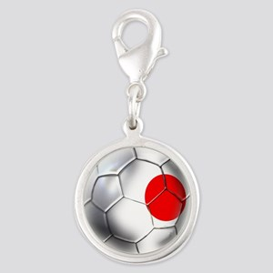Japanese Soccer Silver Round Charm