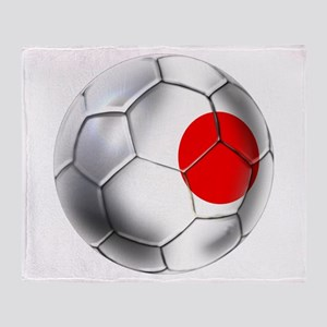 Japanese Soccer Throw Blanket