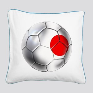 Japanese Soccer Square Canvas Pillow