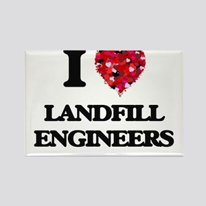 I love Landfill Engineers Magnets