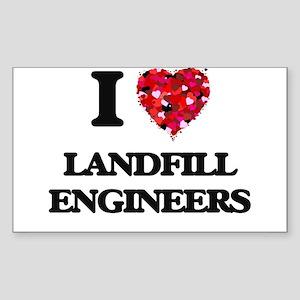 I love Landfill Engineers Sticker