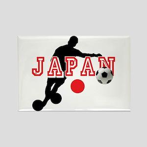 Japan Soccer Player Rectangle Magnet