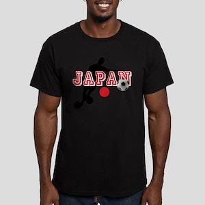 Japan Soccer Player Men's Fitted T-Shirt (dark)
