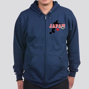 Japan Soccer Player Zip Hoodie (dark)
