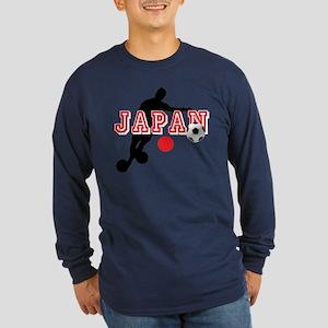 Japan Soccer Player Long Sleeve Dark T-Shirt