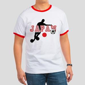 Japan Soccer Player Ringer T