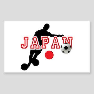 Japan Soccer Player Sticker (Rectangle)