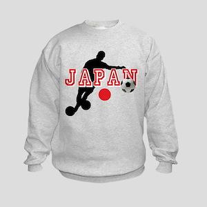 Japan Soccer Player Kids Sweatshirt