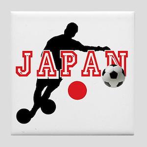 Japan Soccer Player Tile Coaster