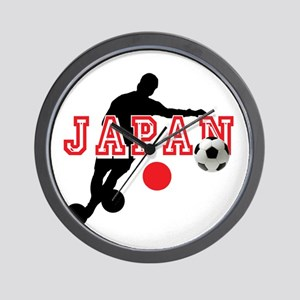 Japan Soccer Player Wall Clock