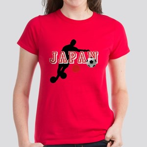 Japan Soccer Player Women's Dark T-Shirt