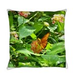 Orange Butterfly Everyday Pillow