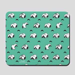 Mustached Snoopy Mousepad