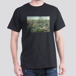 Vintage Pictorial Map of Paris (1900) T-Shirt
