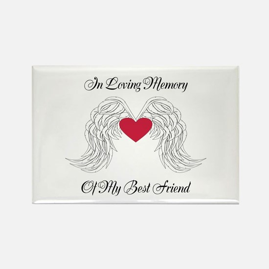 Memorial Heart And Angel Wings Magnets