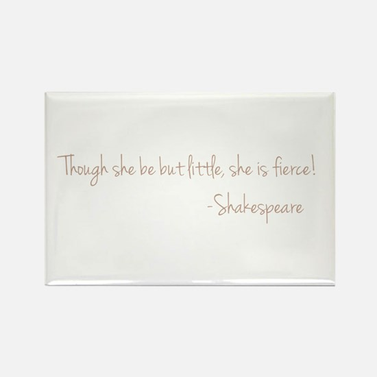 She is Fierece! Shakesp Rectangle Magnet (10 pack)