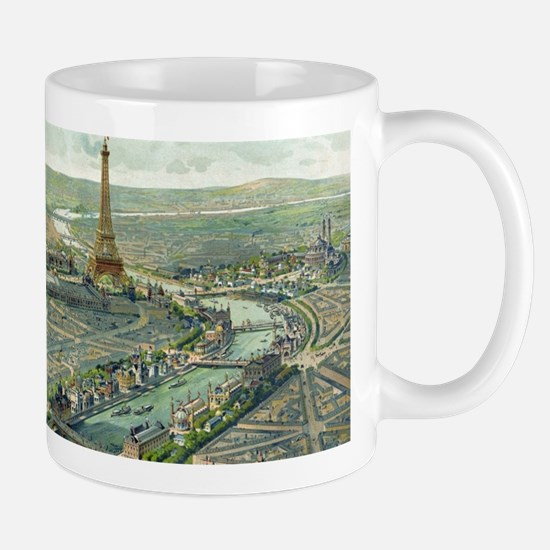 Vintage Pictorial Map of Paris (1900) Mugs