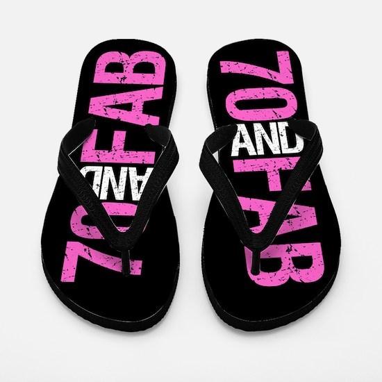 Fabulous 70th Birthday Flip Flops