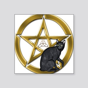 Pentacle Triquetra black cat Sticker