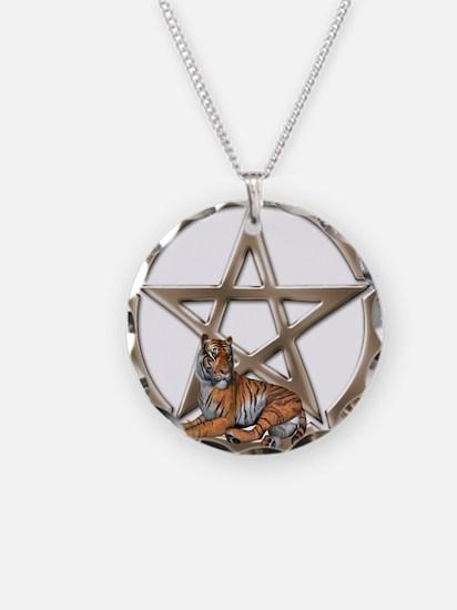 Pentacle Tiger Symbol Necklace