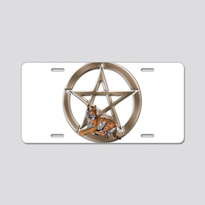 Pentacle Tiger Symbol Aluminum License Plate