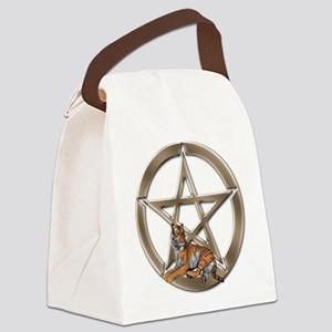 Pentacle Tiger Symbol Canvas Lunch Bag